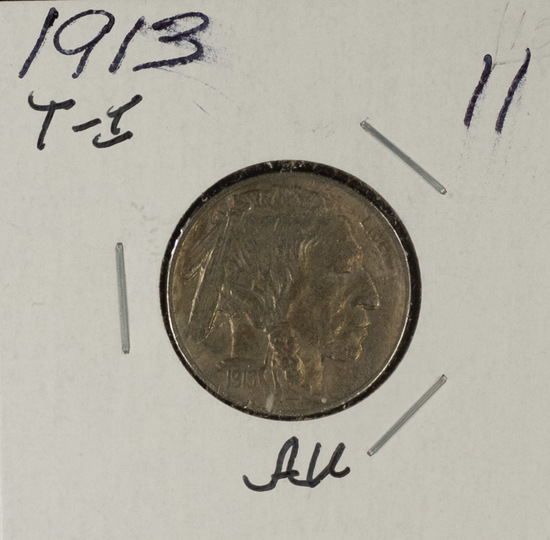 1913- TY I BUFFALO NICKEL - AU