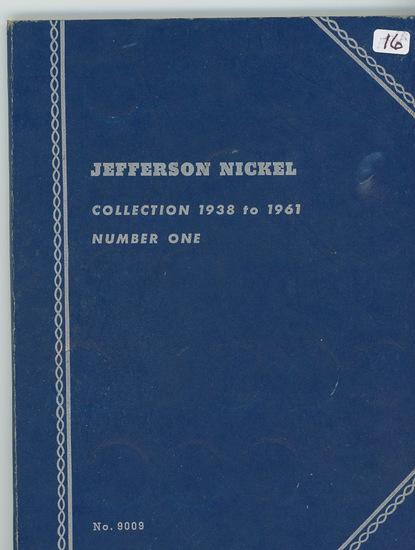 SET OF JEFFERSON NICKELS 1938-1961 NO 39-D, 50-D IN ALBUM