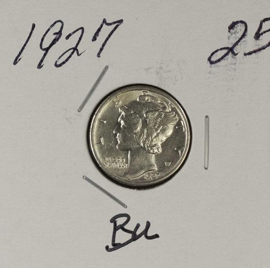 1927 - MERCURY DIME - BU