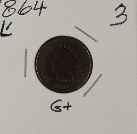 1864-L INDIAN HEAD CENT - G+