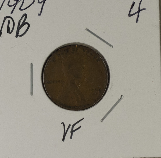 1909 - VDB LINCOLN CENT - VF