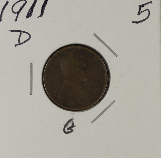 1911-D LINCOLN CENT - G