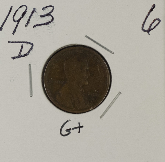 1913-D LINCOLN CENT - G+