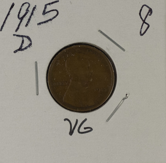 1915-D LINCOLN CENT - XF