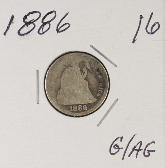 1886 - LIBERTY SEATED DIME - G