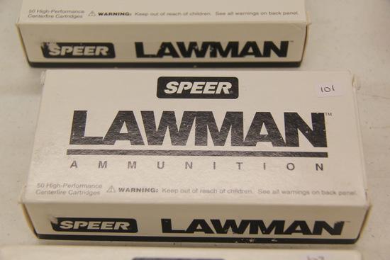 1 Box of 50, Speer Lawman, 9 mm Luger 115 gr