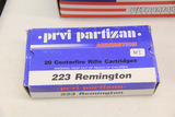1 Box of 20, Prvi Partizan 223 Rem FMJ BT