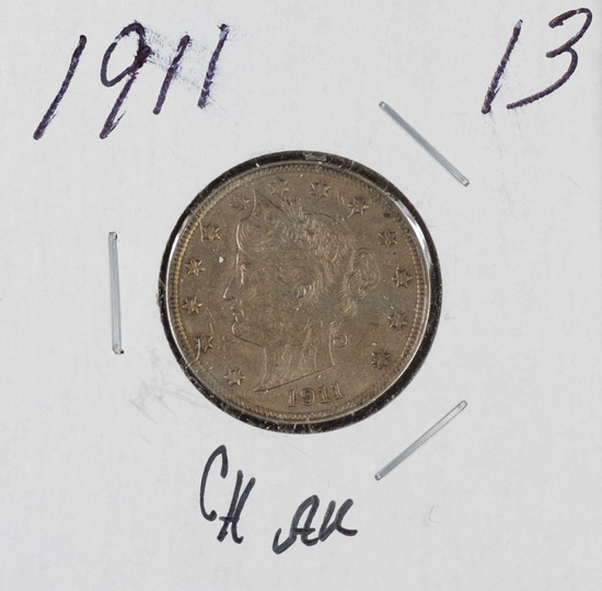 "1911 - LIBERTY ""V"" NICKEL - AU"