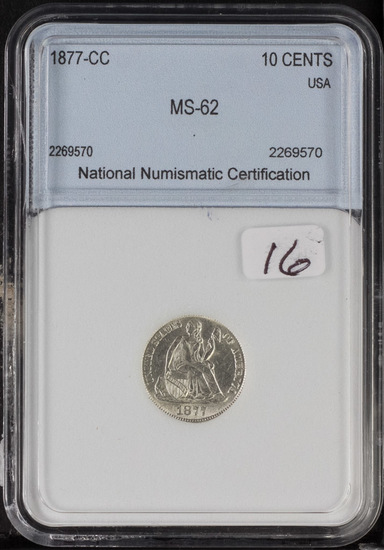 1877-CC LIBERTY SEATED DIME - UNC