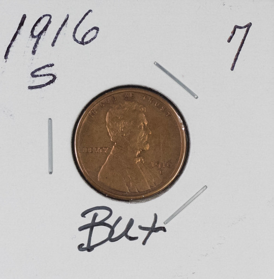 1916-S LINCOLN CENT - BU