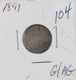 1891 - SEATED LIBERTY DIME - G/AG