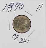 1870 - NICKEL THREE CENT PIECE - CH BU