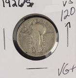 1926-S STANDING LIBERTY QUARTER- VG+