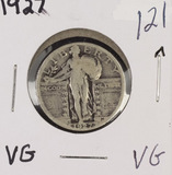 1927 - STANDING LIBERTY QUARTER - VG