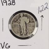 1928 - STANDING LIBERTY QUARTER - VG