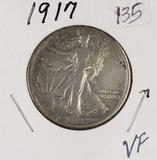 1917 - WALKING LIBERTY HALF DOLLAR - VF