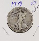 1919 - WALKING LIBERTY HALF DOLLAR - VF