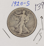 1920-S WALKING LIBERTY HALF DOLLAR - VF