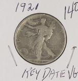 1921 -WALKING LIBERTY HALF DOLLAR - VG KEY DATE
