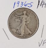 1936-S WALKING LIBERTY HALF DOLLAR - VF
