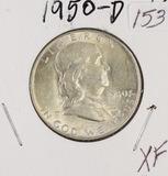 1950-D FRANKLIN HALF DOLLAR - XF