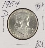 1954-D FRANKLIN HALF DOLLAR - BU