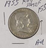 1955 - FRANKLIN HALF DOLLAR - AU