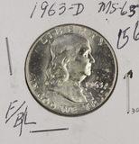 1963-D FRANKLIN HALF DOLLAR - BU - FULL BELL LINES