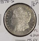 1878-S MORGAN DOLLAR - UNC PROOF LIKE
