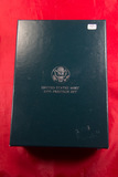 1990 - PRESTICE PROOF SET WITH EISENHOWER COMMEMORATIVE  PROOF SILVER DOLLAR