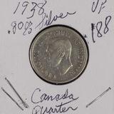 LOT OF 2 CANADIAN GEORGE VI 1938 - 1946 TWENTY FIVE CENTS