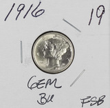 1916 - MERCURY DIME - GEM BU