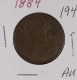 1884 - GREAT BRITAIN - PENNY - AU