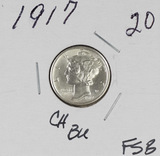 1917 - MERCURY DIME - CH BU