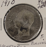 1910 - VENEZUELA 5 BOLIVARES #24