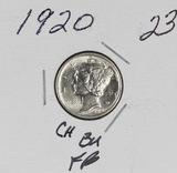 1920 - MERCURY DIME - CH BU