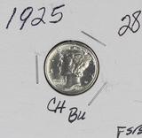 1925 - MERCURY DIME - CH BU - FULL STICKS & BANDS