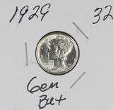 1929 - MERCURY DIME - GEM BU