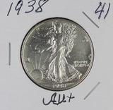 1938 - LIBERTY WALKING HALF DOLLAR - AU+