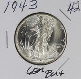 1943 - LIBERTY WALKING HALF DOLLAR - GEM BU+