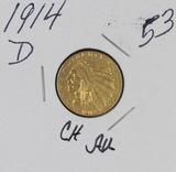 1914-D  INDIAN HEAD GOLD QUARTER EAGLE