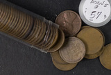 1-ROLL (50 COINS) TEENS & TWENTIES LINCOLN CENTS