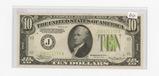 SERIES OF 1934 -TEN DOLLAR - FEDERAL RESERVE NOTE - KANSAS CITY - CU