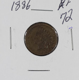 1886 - INDIAN HEAD CENT - XF