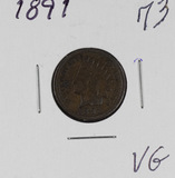 1891 - INDIAN HEAD CENT - VG