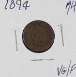 1894 - INDIAN HEAD CENT - G/VG