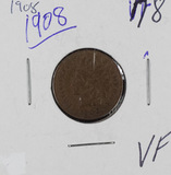 1908 - INDIAN HEAD CENT - VF