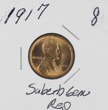 1917 - LINCOLN CENT -GEM RED BU
