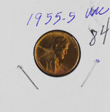 1955-S LINCOLN CENT - BU - RED