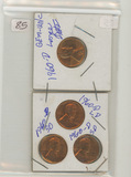 LOT OF 4 - LINCOLN CENTS GEM UNK